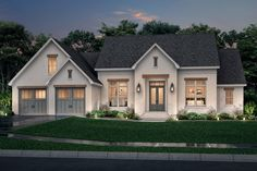 This modern farmhouse plan is all about efficiency and style. Check out the sweet front porch. Questions? Call 1-800-447-0027 today. #architect #architecture #buildingdesign #homedesign #residence #homesweethome #dreamhome #newhome #newhouse #foreverhome #interiors #archdaily #modern #farmhouse #house #lifestyle #design #buildersareessential Modern Farmhouse Exterior, Farmhouse Design, Farmhouse Style, Country Style House Plans, French Country Style, Through The Window, Building Design, New Homes, Floor Plans