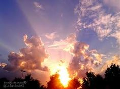Beautiful rays of light.