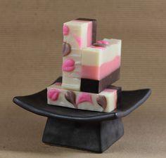 Neapolitan Ice Cream body soap recipe/instructions (non-edible) look so cute!