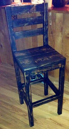 Pallet to bar stool - doubt I could make it but I like the color and style, would need 2