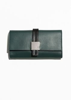 & Other Stories   Cube Detail Leather Wallet