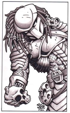 Predator, in the March 2011: Alien Invasions Comic Art Sketchbook
