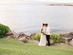 "Karleen in ""For Emily"" by Elizabeth Dye Maui Destination Wedding  Read more - http://www.stylemepretty.com/2013/12/12/maui-destination-wedding/"