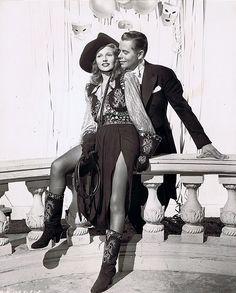 Rita Hayworth and Glenn Ford in publicity for Gilda, 1946.