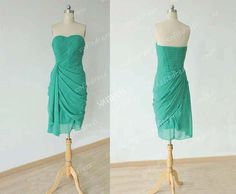 chiffon bridesmaid dress green bridesmaid dress by sofitdress, $106.00