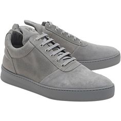 Filling Pieces Low Top Diagonal Grey // Flat leather sneakers (1.090 RON) ❤ liked on Polyvore featuring men's fashion, men's shoes, men's sneakers, shoes, mens low profile sneakers, mens grey sneakers, mens leather sneakers, mens flat shoes and mens leather shoes