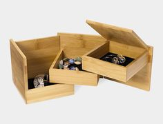 What does it take to design a bestseller for the MoMA Store? Industrial designer Lawrence Chu knocked one out of the park with his Tuck storage box, designed for Umbra back in '09 and subsequently picked up by MoMA scouts. The scale of the photos might be deceptive; the bamboo...