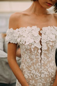 Before we reveal the 2019 Atelier Pronovias wedding dress collection, we're giving you an exclusive sneak peek backstage with these photos taken by our insider photographer Charlotte van den Berg. Romantic Wedding Colors, Stunning Wedding Dresses, Bohemian Wedding Dresses, Wedding Dress Styles, Beautiful Gowns, Bridal Dresses, Bridesmaid Dresses, Perfect Wedding, Pronovias Wedding Dress