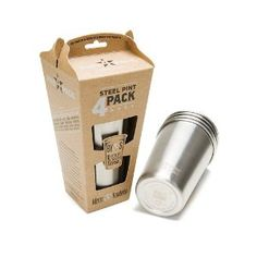 Stainless Steel Pint Cup 4 pack.  No confusing volume lines, just fill 'er up.