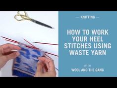 Discover ways to knit socks by watching our simple peasy knitting tutorial all about working your heel stitches utilizing waste yarn.Get your palms (or toes) on our model new knitting kits right here: When Knitting Kits, Knitting Wool, Knitting Socks, Knitting Stitches, Hand Knitting, Knitting Patterns, Knitting Tutorials, Knit Socks, Crochet Hooks