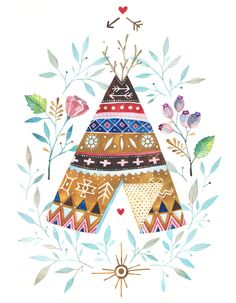 Tipi by Ana Victoria Calderón #illustration #design #watercolorart