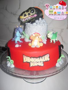 dinosaur king cake decorating ideas Pinterest Birthdays