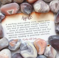Home Decor has a new home with these Agate Tumbled Stones. Use them yourself or make a stunning housewarming gift! Chakra Crystals, Crystals Minerals, Rocks And Minerals, Crystals And Gemstones, Stones And Crystals, Gemstone Beads, Crystal Healing Stones, Crystal Magic, Crystal Grid