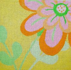 Bright Creek Designs -- Amy's Golden Strand | Flowers / Fruits / Vegetables Canvases | Amy Bunger | Needlepoint