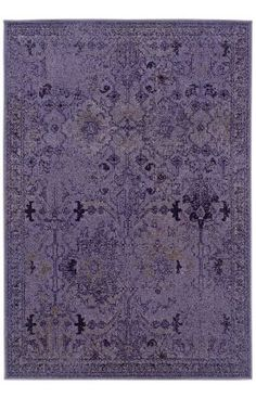 Might be too purple, but kinda like the faded pattern. | Master Bedroom | Rug Oriental Weavers Sphinx Revival 8023M Purple Rug