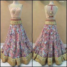 Flower Printed Lehenga Embroidery Choli Christmas Special Plus Size Skirtps 2232 | eBay