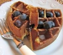 Blueberry Waffles from Danielle Walker's Against All Grain | Recipes by Amy Tobin. List of Paleo Alternatives too.