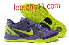 Kobe Bryant 8 Purple Volt Shoes