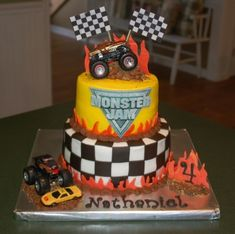Monster Truck Cake By tabco on CakeCentral.com