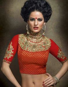 Sabyasachi saree blouse design