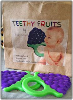 Check out these Fun Grape Shaped Teethy Fruits #BabyTeethers by Baby Grips Eco
