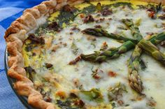 Spring Quiche with Asparagus and Beef - Easy to make and fresh for Spring! #smarterbeef