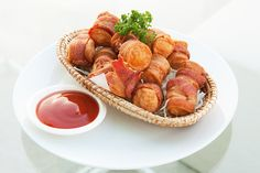Bacon Wrapped Bratwurst: Uncle Charley's Bratwurst Grillers, 3 cans of light…