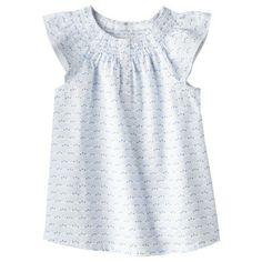 Genuine Kids from OshKosh™ Infant Toddler Girls' Cap Sleeve Floral Blouse