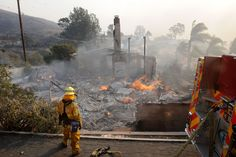 Quick-moving Thomas Fire consumes more homes Firefighter, California, Street, City, World, Homes, News, Houses, Fire Fighters