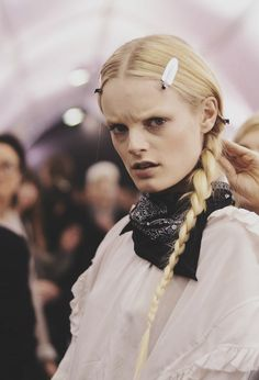 hanne gaby odiele at valentino fw 2013 backstage