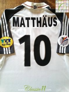 b471b701cfd 2000 01 Germany Euro 2000 Home Football Shirt Matthäus  10 (XL). 1998 World  CupFifa ...