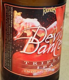 Founders Devil Dancer IPA.  Nice close-up of the girl on the label