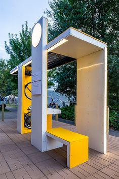 Millenial Bus Stop City Furniture, Urban Furniture, Street Furniture, Urban Landscape, Landscape Design, Landscape Architecture, Architecture Design, Bus Stop Design, Bus Shelters