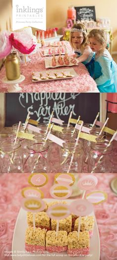 Princess Party Printable Decorations // by InklingsPaperie
