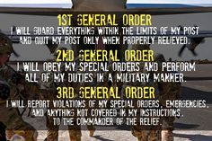 Army 3 general orders essay about myself