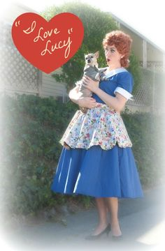 I Love Lucy Vintage Costume #tv #show #sewing