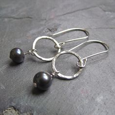 Circles with Pearls Earrings by PamHurst on Etsy, $28.00