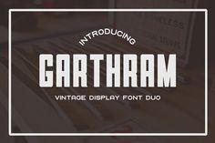 Garthram Font Duo + Bonus Logos by BART.Co Design on @creativemarket