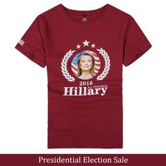ShaziShop offers Presidential Election Sale: Get 2016 USA President Campaign Vote HILLARY Clinton Shirt T-Shirt Tee Unisex Size S-XXXL Top 5 Colors at $372. https://www.shazishop.com/collections/presidential-election-sale/products/2016-usa-president-campaign-vote-hillary-clinton-shirt-t-shirt-tee-unisex-size-s-xxxl-top-5-colors