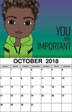 Inspiring Wall Calendar October 2018 Calendar 2018, Layout Design, October, Wall, Kids, Inspiration, Young Children, Biblical Inspiration, Boys