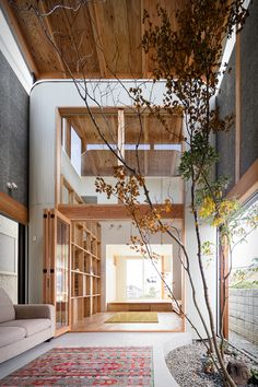 The Melt House In Osaka 2019 In a quiet residential area of Osaka SAI Architecture Design Office has constructed Melt a minimalist home with a corrugated exterior. The post The Melt House In Osaka 2019 appeared first on Architecture Decor. Architecture Design Concept, Interior Architecture, Interior And Exterior, Residential Architecture, Tree Interior, Japan Interior, Interior Livingroom, Chinese Architecture, Futuristic Architecture