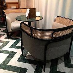 [Dekoration] Que retient-on du Salon Maison et Objet 2017 ? Le retour du cannage, comme les fauteuils design du @flora_danica #floradanica #restaurantfloradanica #restaurant #decoration #mo17 #GamFratesi #Design #maisondudanemark #trendy #Armchair #danishdecoration