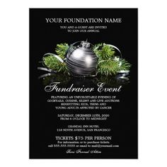 Holiday Fundraiser Invitations | Fundraising Event Invitation Template