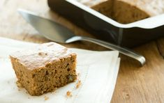 Though it's equally delicious on its own, try topping squares of this spiced cake with dollops of applesauce or almond butter. As a breakfast cake, it's great served alongside scrambled eggs or tofu with bacon or tempeh sausage.