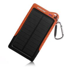 Portable Solar Charger Backup External Battery Pack for iPhone iPods, iPad Deal Alert:70% off at Amazon>> $29.99