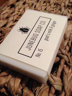 Goat's Milk & Ginger handmade bar soap.  Available from Junebug Soap Co. at www.etsy.com/shop/JunebugSoapCo