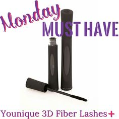 Monday Must Have ~ Younique Moodstruck 3D Fiber Lashes + !   Don't be caught without them ~ order yours today!      www.youniqueproducts.com/PamReiners?utm_content=buffer989ad&utm_medium=social&utm_source=pinterest.com&utm_campaign=buffer
