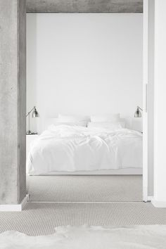#white #bedroom
