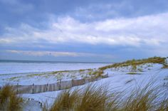 A great shot of our beach in the winter! Thank you Chris Crandall for this photo!