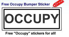 Free Bumper Sticker from Yovia - Occupy